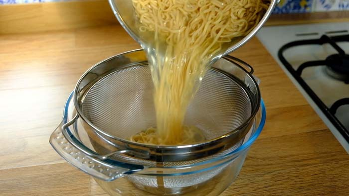 fideos chinos cocidos